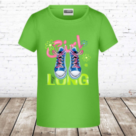 Meisjes T-shirt lime shoes