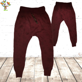 Baggy sweatpant ster rood 14