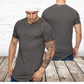 Mannen t shirt antraciet 9012
