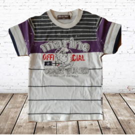 Kinder t-shirt marine paars 98