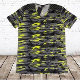 Heren shirt Army fluor geel XXL