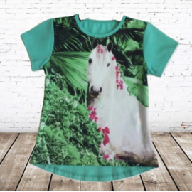 t-shirt met paard mint