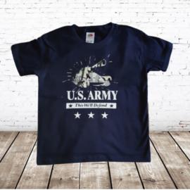 Jongens shirt U.S ARMY blauw