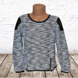 Stoer meisjes shirt grijs