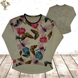 Shirt met vlinder wit