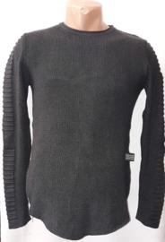 Riva fijn gebreide trui grijs XL