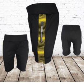 Korte broek jongens zwart geel