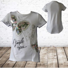 Meisjes t shirt Simply You wit