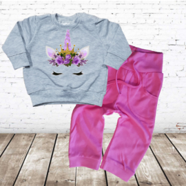 Eenhoorn set met roze broek