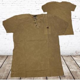 Heren t-shirt violent zacht geel