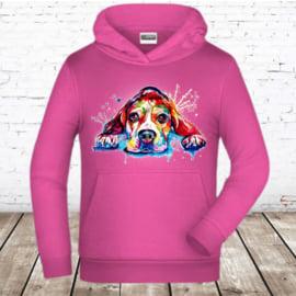 Roze hoodie dog