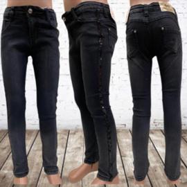 Spijkerbroek meisjes met pailletten