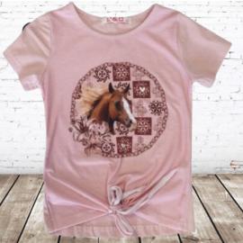 Paarden shirt roze F18