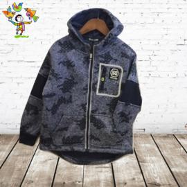 Jongensvest G016 blauw 110/116