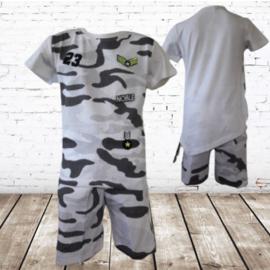 Army set jongen wit 98/104