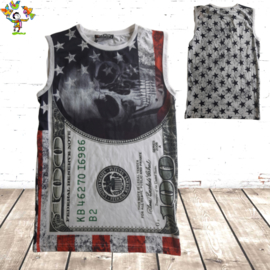 Mouwloos heren shirt Dollar