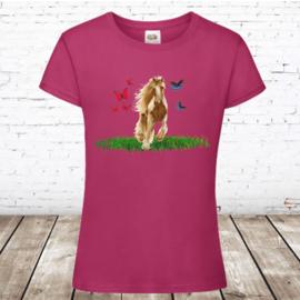 T shirt paard met vlinders