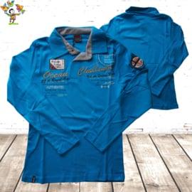 Heren polo Challenge blauw L