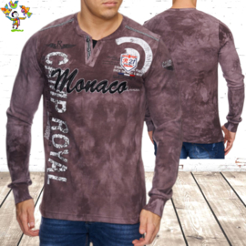 Heren sweater Monaco bruin