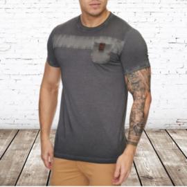 Heren t-shirt violento bruin