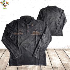 Heren Polo jeans zwart L