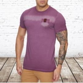 Heren t-shirt violento bordeaux