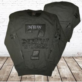 Grijze  heren sweater New York