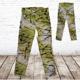 Groene meisjes broek met strepen