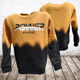 Kinder trui power geel/zwart