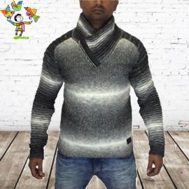 Heren trui zwart wit 592 M