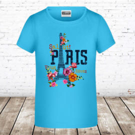 T-shirt paris blauw