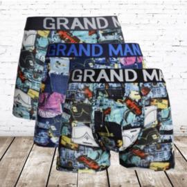 Grand Man katoenen heren boxershorts  3-pak 5038