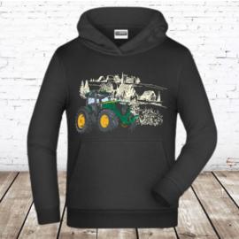 Zwarte hoodie met tekker