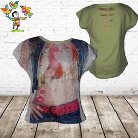 T-shirt vrouw mint 98/104