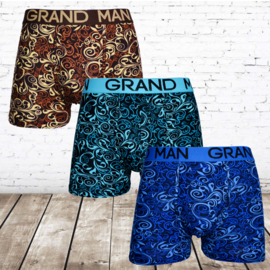 Grand man boxershorts heren Grand man 5006 3-pak