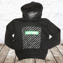 Jongens trui No way zwart groen