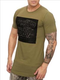 T-shirt heren Exploration groen S