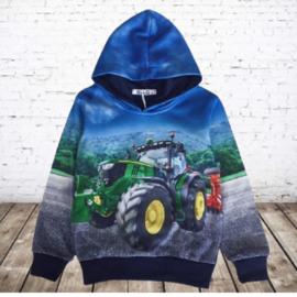 Blauwe hoodie met JD Trekker h129A