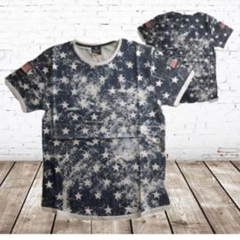 Heren t-shirt Ster blauw