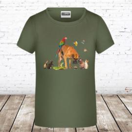 Meisjes T-shirt beestenboel