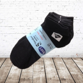 Naft sneaker sokken zwart 5-pak