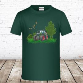 Groen trekker shirt met Fendt