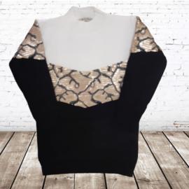 Meisjes trui met pailletten  P806 zwart