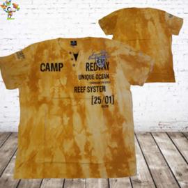 Heren t-shirt Camp Redway geel