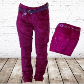stoere velours meidenbroek roze 16