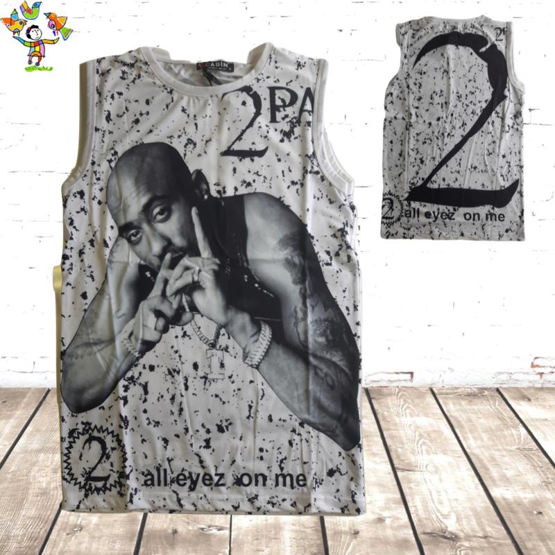 2-Pac mouwloos heren shirt