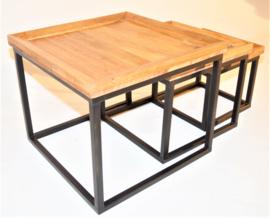 Set 3 vierkante tafels