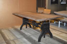 Eettafel Hupe met blad oud hout AANBIEDING