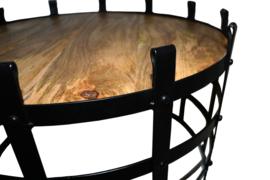 Set 2 salontafels Dylan (zwart)