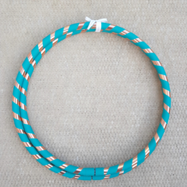 Turquoise twist intermediate hoepel